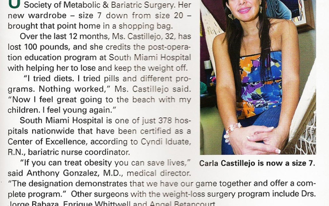 South Miami's Weight Loss Program Certified – Feb 2009